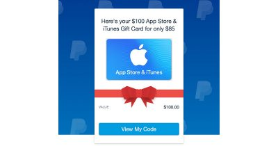 Digital iTunes Gift Card from Ebay