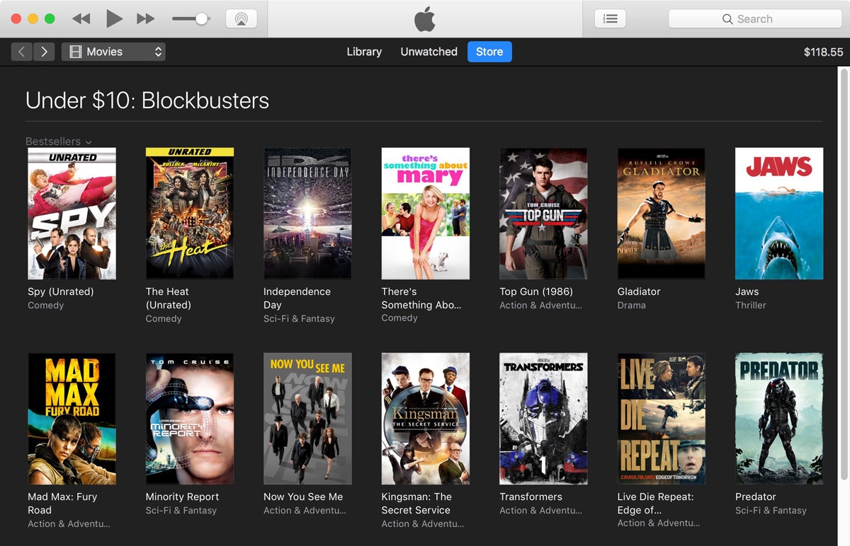 Summer Blockbusters on iTunes