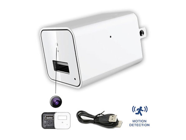 USB Wall Charger with Hidden Camera: $49.99
