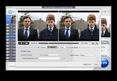 MacX DVD Ripper Pro edit screenshot