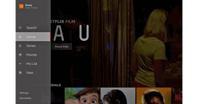 Netflix redesigned interface with sidebar