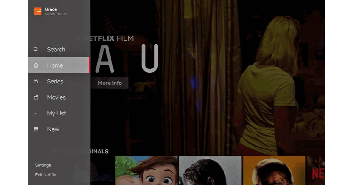 Netflix gets New Interface with Sidebar