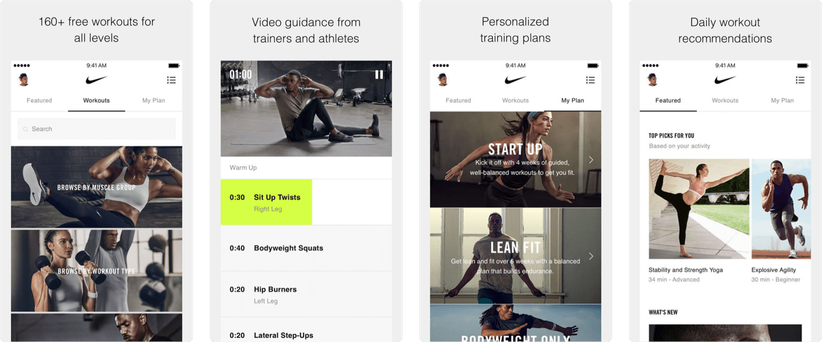 Nike Training Club is Now on Apple Watch