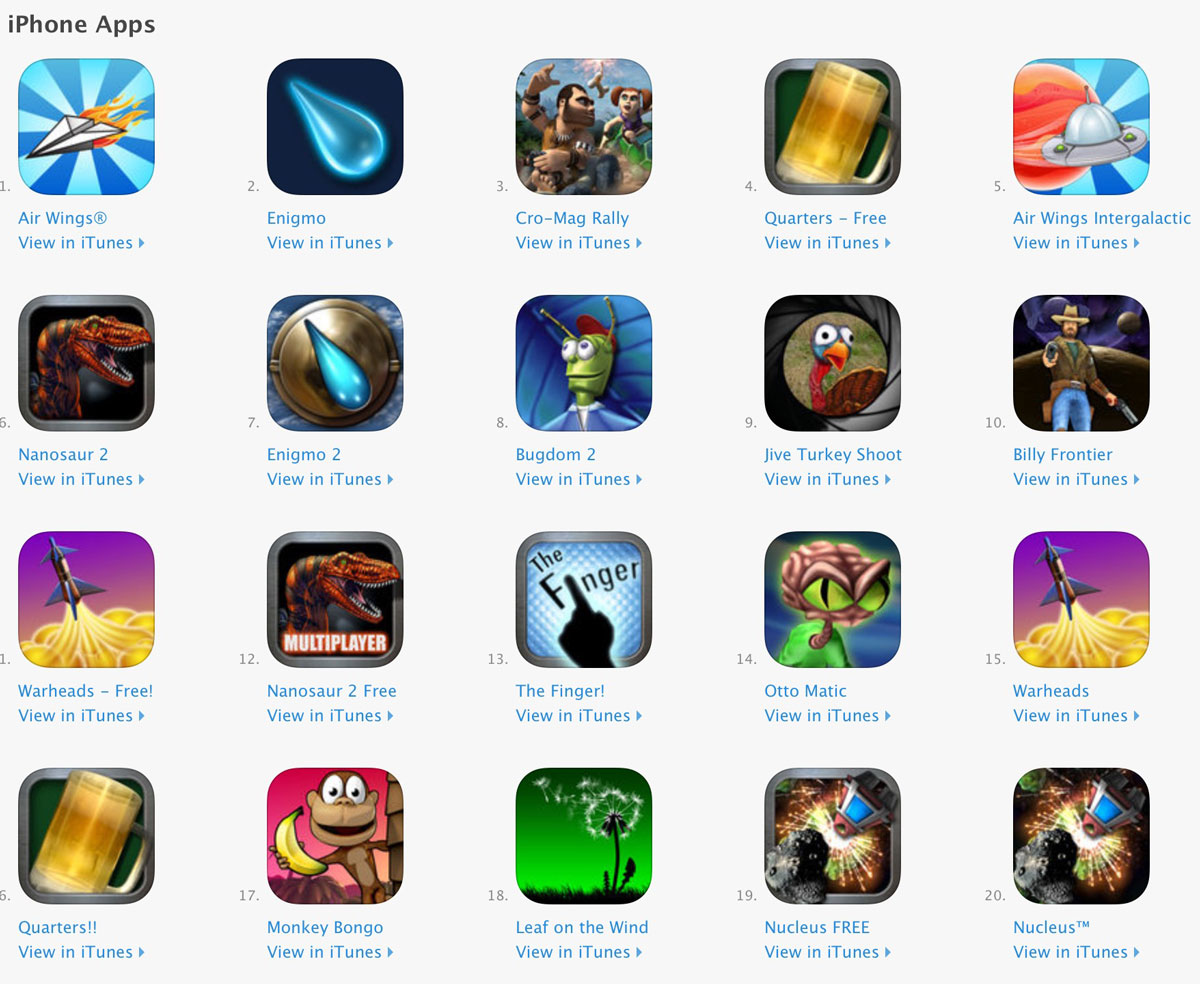 Pangea Software iPhone Games on App Store