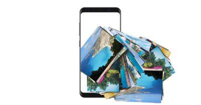 Samsung smartphone leaking photos