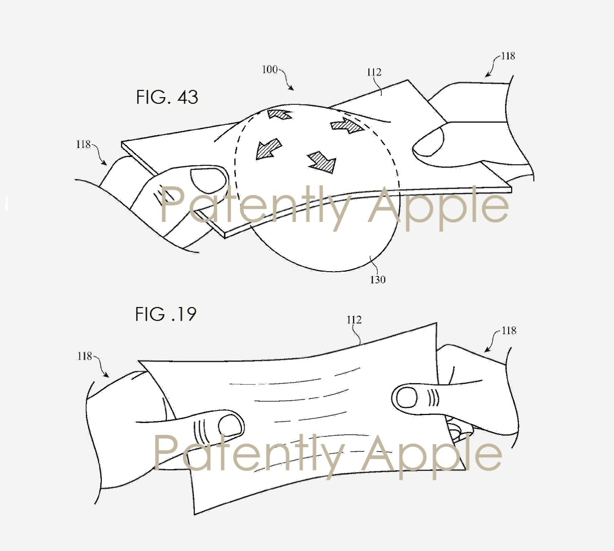 image of the apple smart clothing patent
