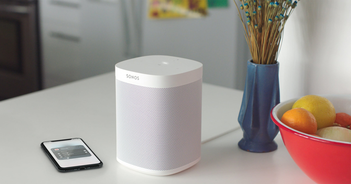 Sonos speaker with AirPlay 2 support