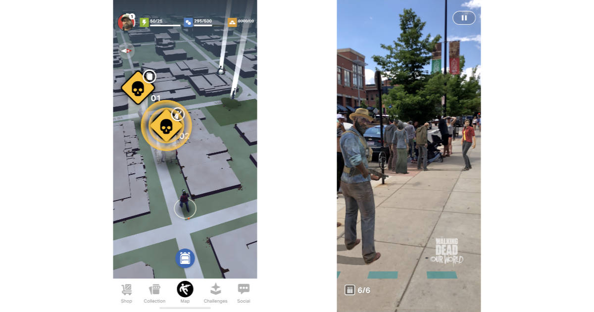 Go on an AR Zombie Hunt with The Walking Dead: Our World