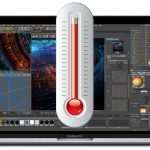 Touch Bar MacBook Pro with thermometer overheating