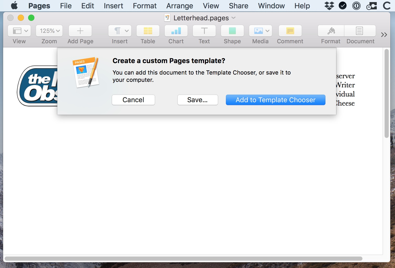 """""""Pages Asks You Where to Save"""" Dialog Box on the Mac"""