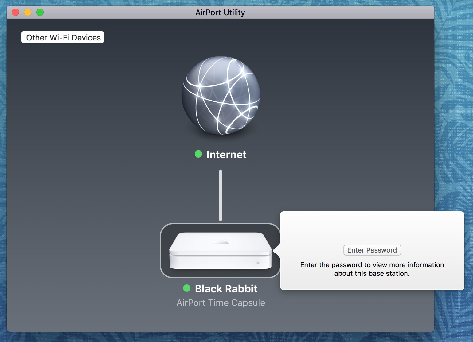 """Enter Password"" Prompt in AirPort Utility on the Mac"