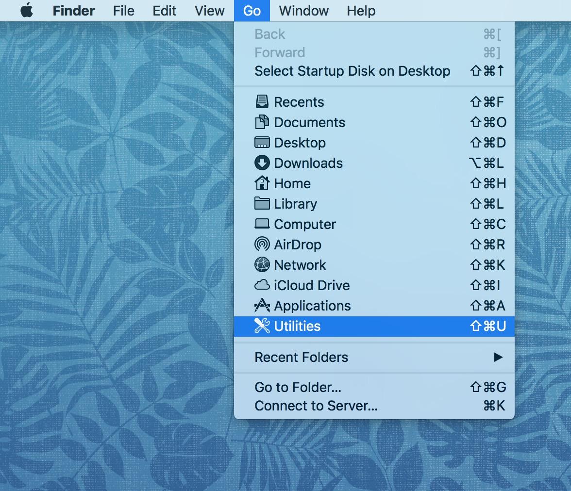 Mac Finder's Go Menu