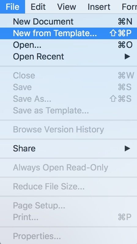 """Word's """"New from Template"""" Option on the Mac"""