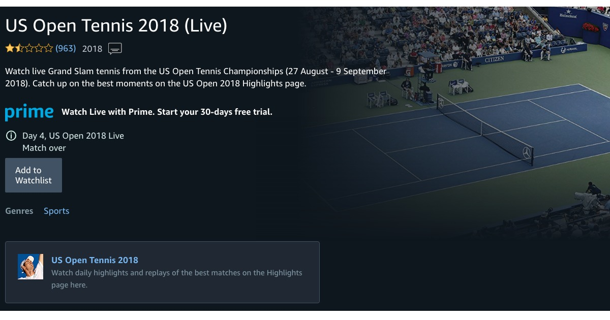amazon u0026 39 s us open tennis coverage is struggling  and