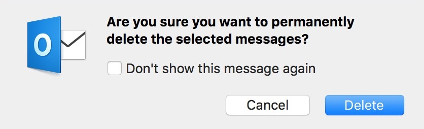 """Are You Sure?"" Dialog Box"