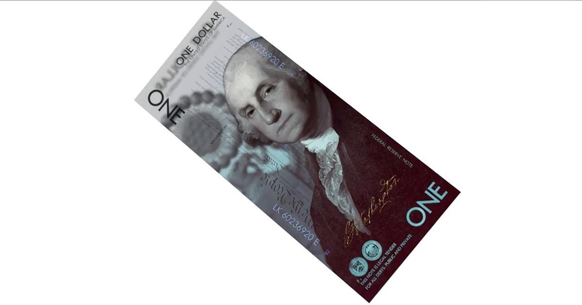 Andrey Avgust's U.S. One Dollar Bill Concept Art