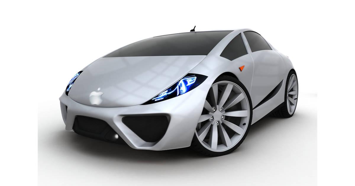 Car with Apple logo