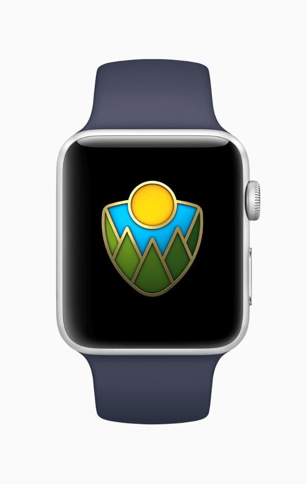 Apple Watch national park badge
