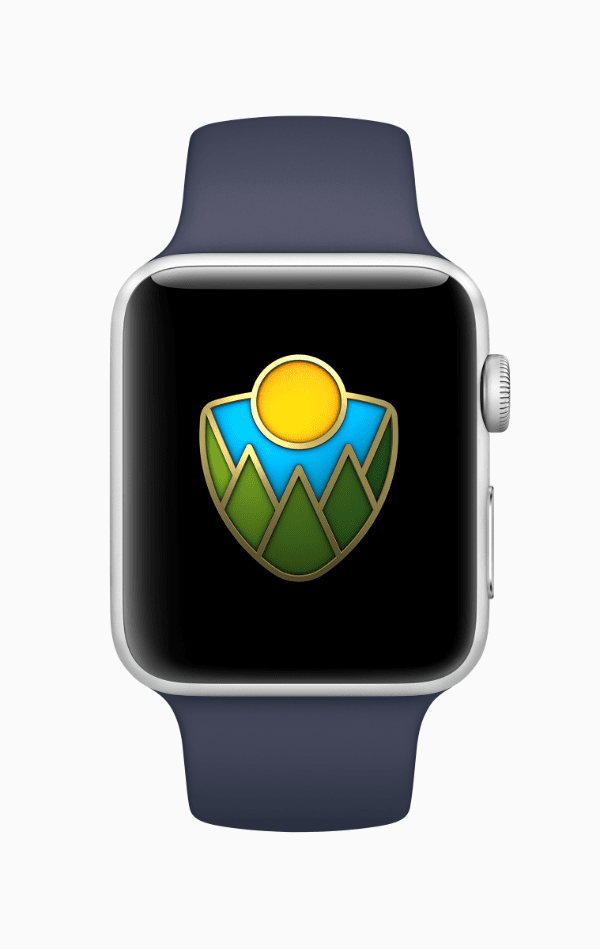 Apple Watch national park badge