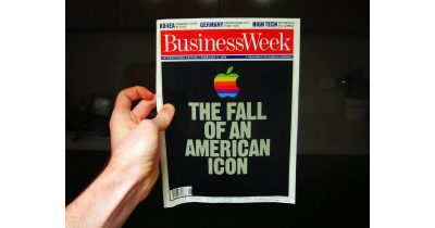 BusinessWeek magazine cover from February 1996 calling Apple a failure