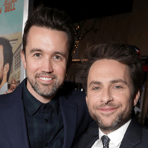 Image of Rob McElhenney and Charlie Day for our Apple TV guide.