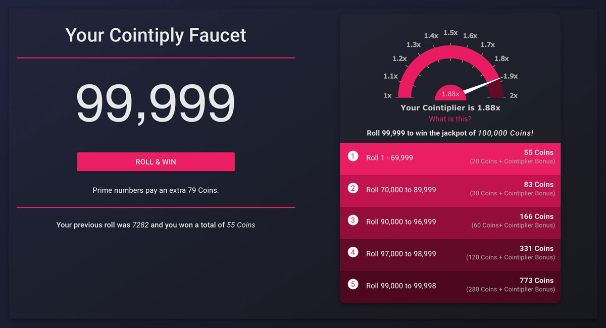 The Cointiply Faucet