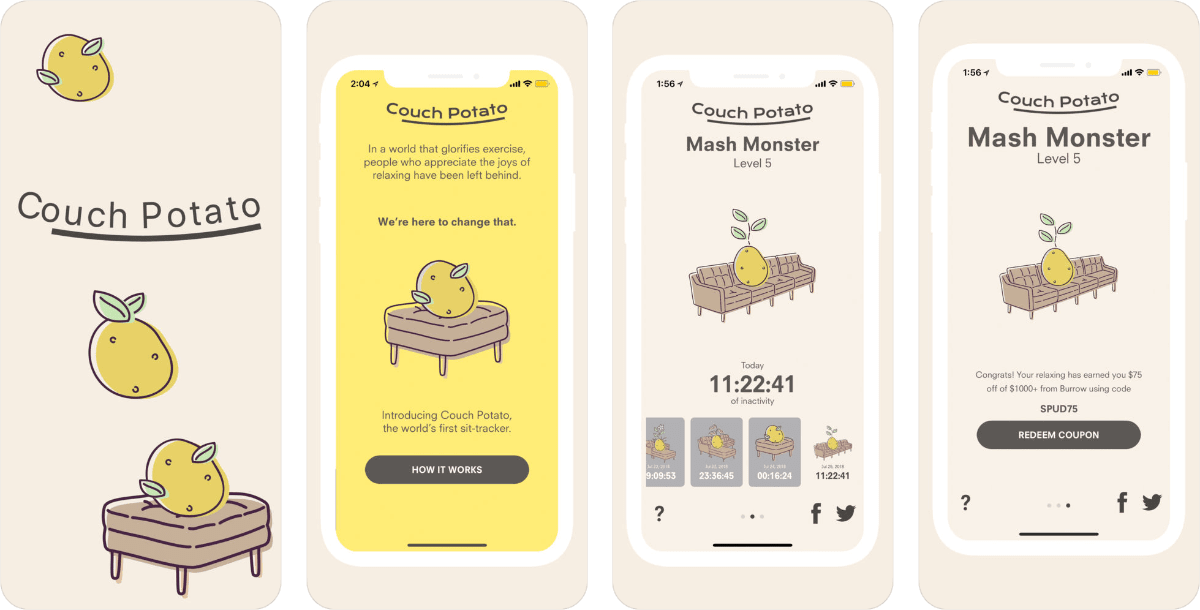 Couch Potato App Tracks How Many Times You're Sitting