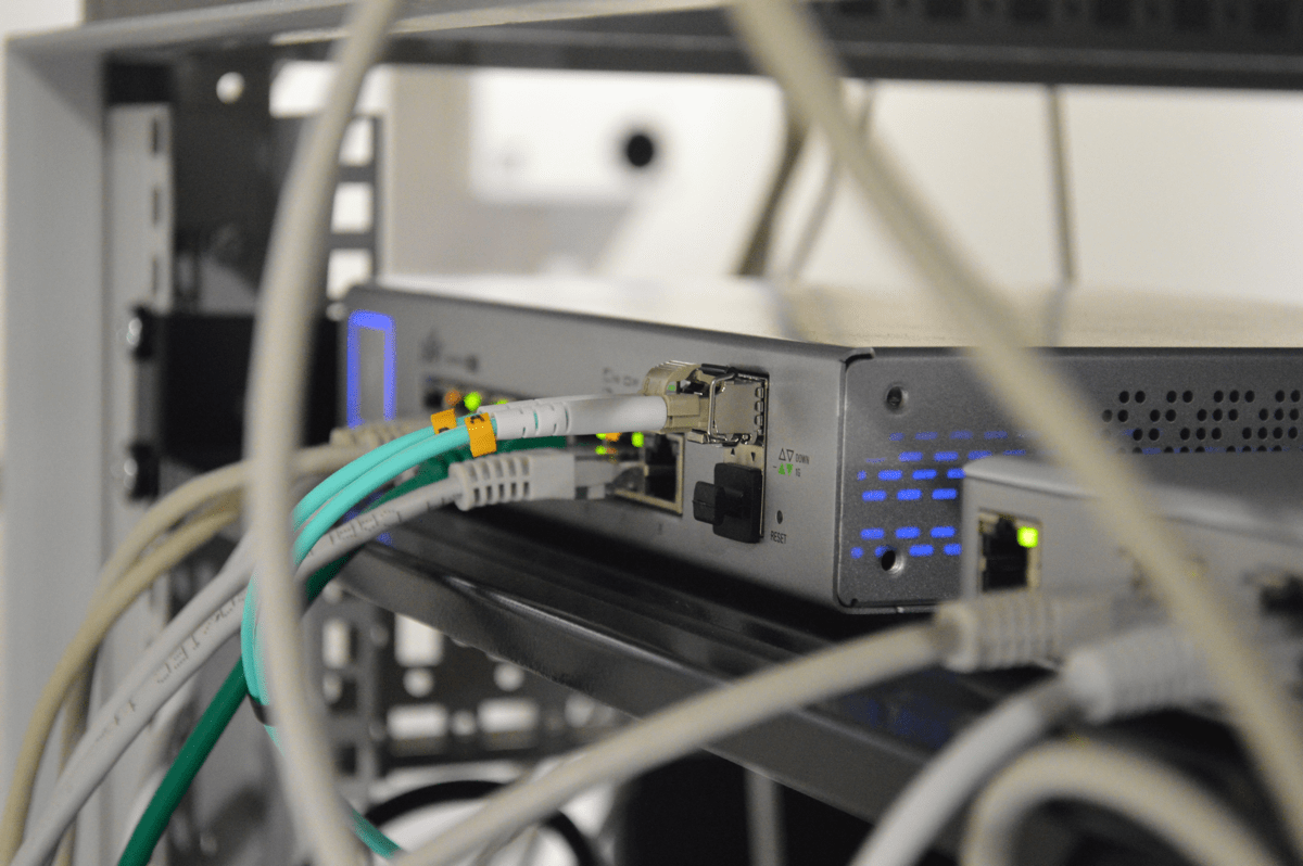 Image of ethernet cable. Scientists routed the entire internet in a single optical cable.