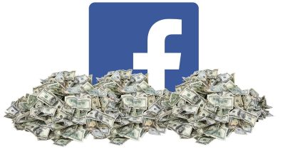 Facebook in a big pile of money