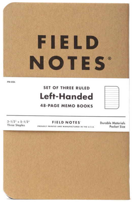 Filed Notes notebook for left handed writers