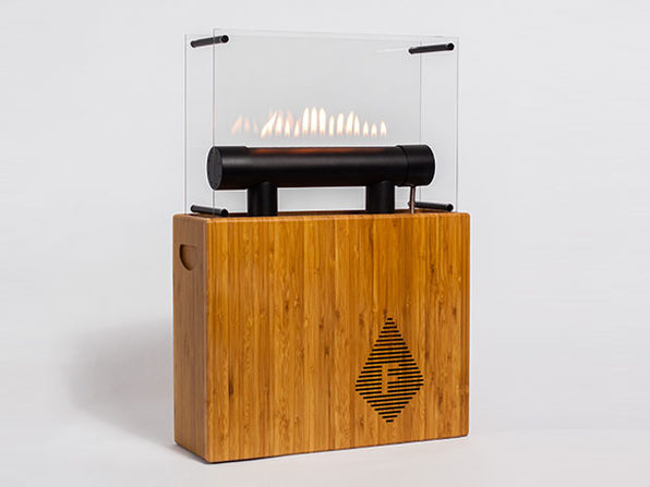 The Flames Bump to the Music with Fireside Audiobox Bluetooth Speaker: $399