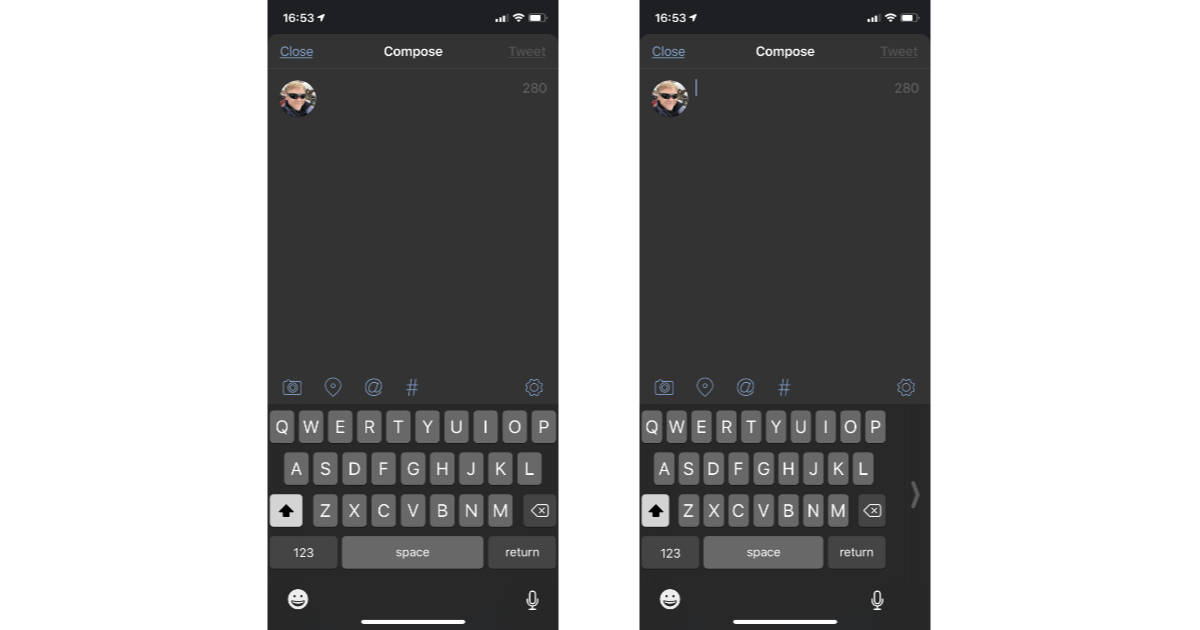 iOS one hand keyboard option on iPhone