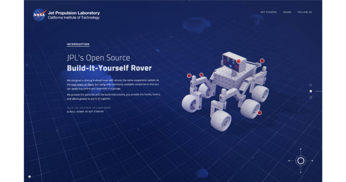 JPL Open Source Rover Project Lets You Build Your Own Working Robot Rover
