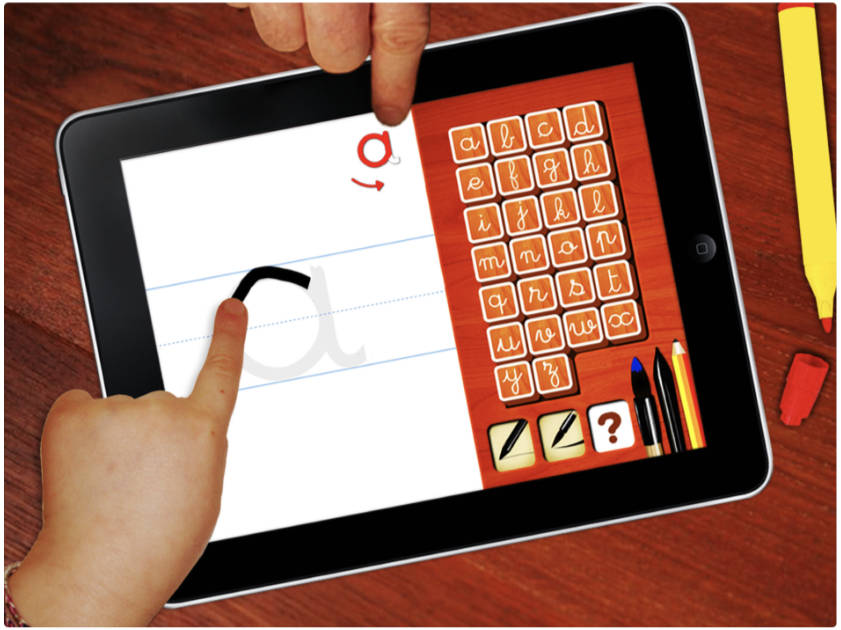 Left handed writing app for iPad