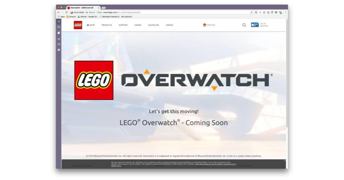 LEGO Reveals Overwatch Team Up with Teaser Website