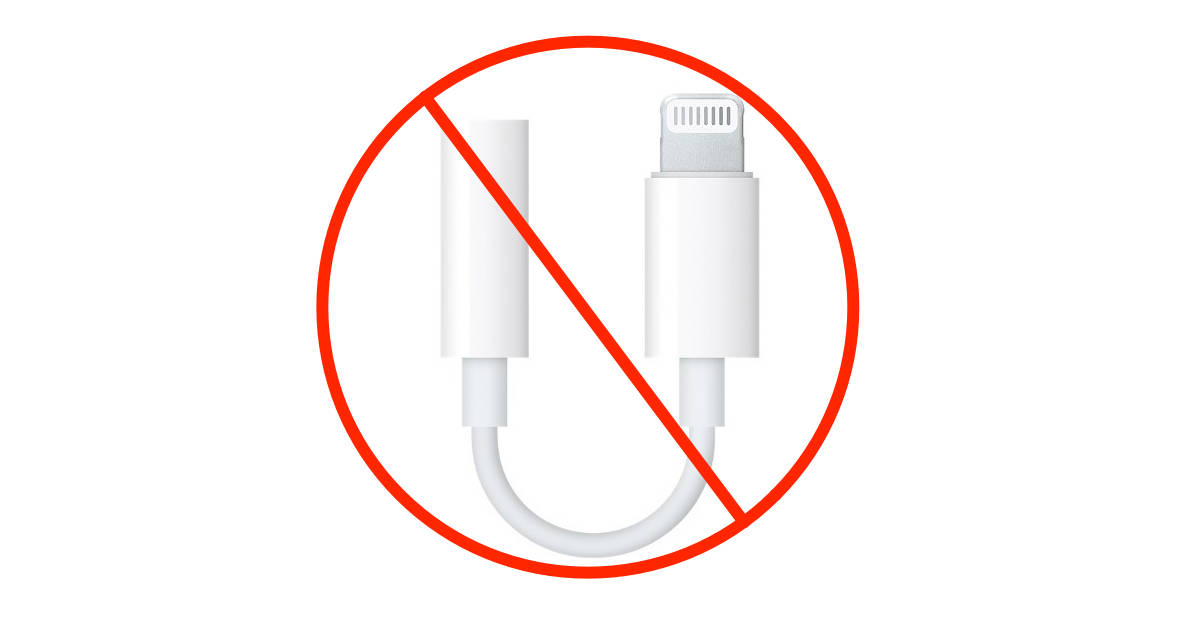 Apple Lightning to 3.5 mm headphone jack adapter