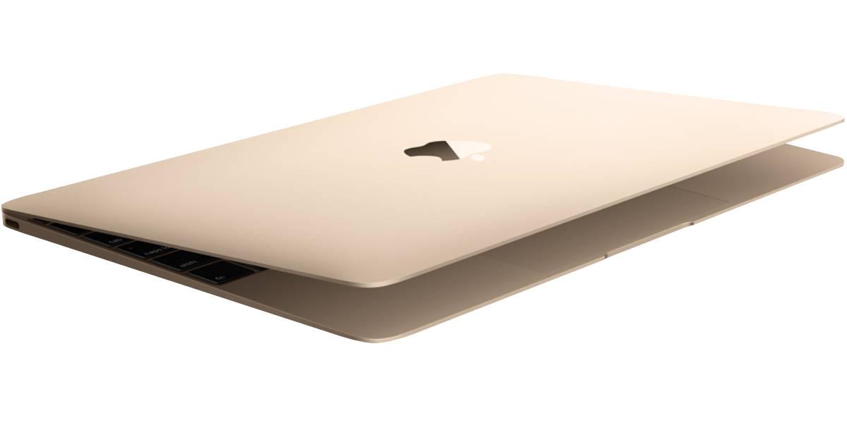 gold Apple MacBook