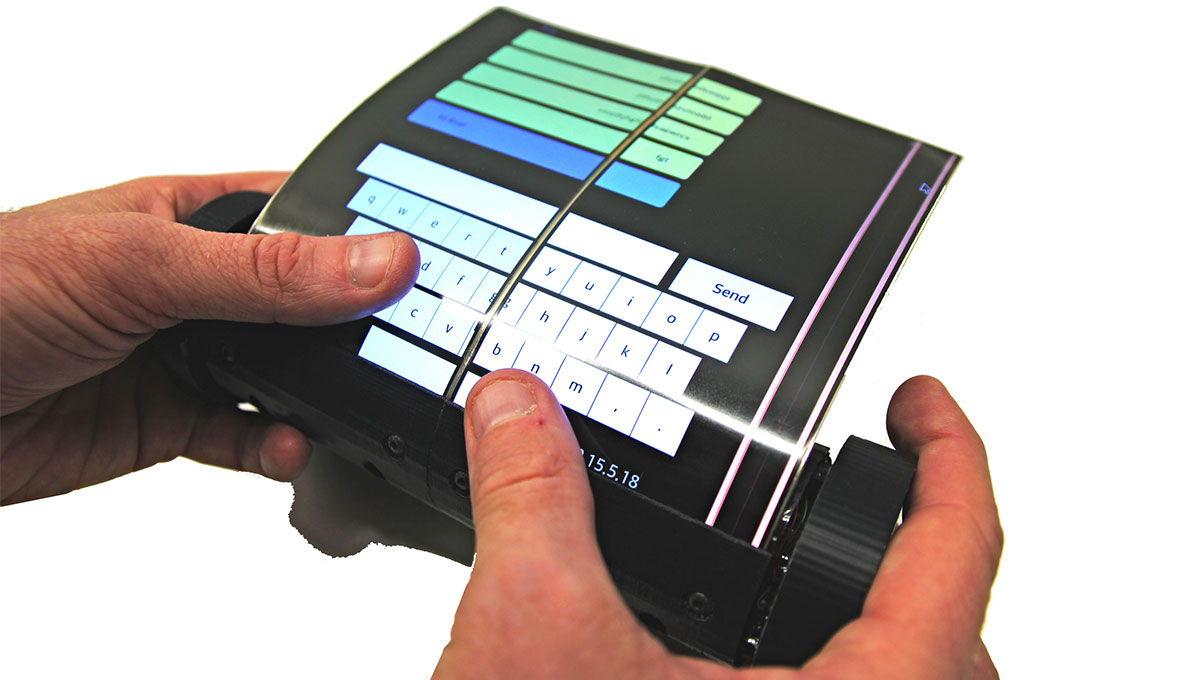 Check out this Tablet/Phone that Rolls Up Like Scroll