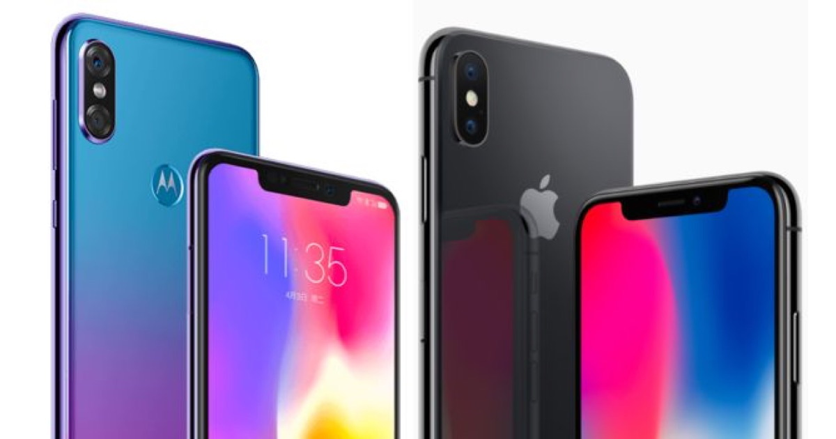 Moto P 30 can not be distinguished from iPhone X. seriously?