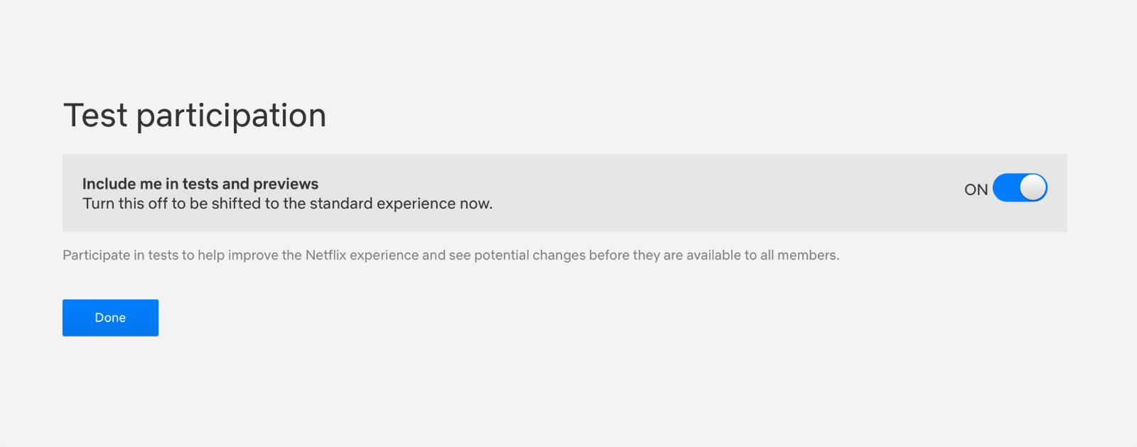 Image of Netflix ads settings.
