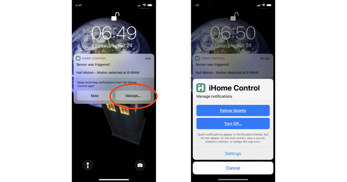Notification Center Instant Tuning in iOS 12 on iPhone