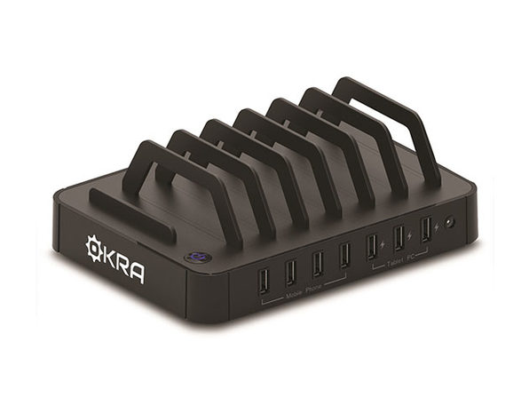 Okra 7-Port USB Desktop Universal Charging Station