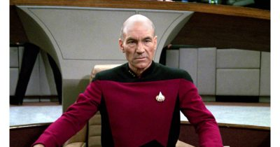 Patrick Stewart as Captain Jean-Luc Picard in Star Trek: The Next Generation