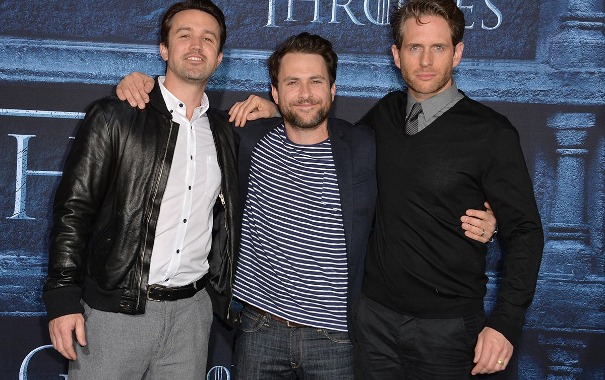 Rob McElhenney, Charlie Day, and Glen Howerton at an unrelated Game of Thrones event