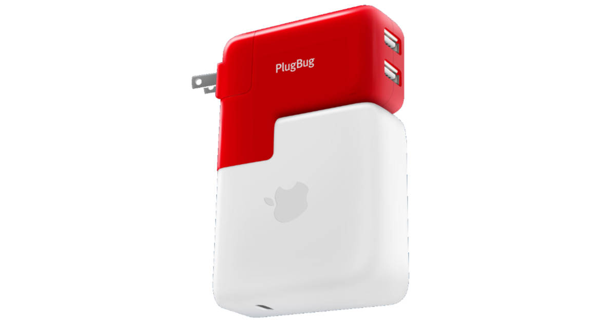PlugBug Duo Adds 2 USB Power Ports to Your MacBook Charger