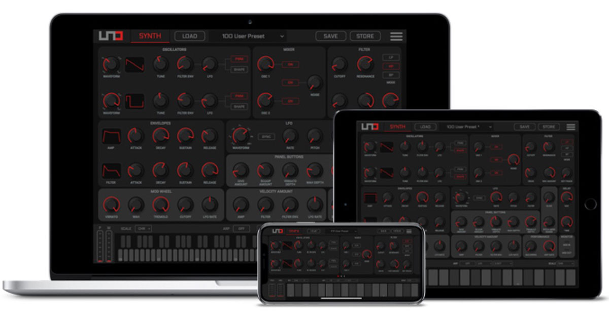 IK Multimedia Ships UNO Synth Editor for Mac/iOS/PC