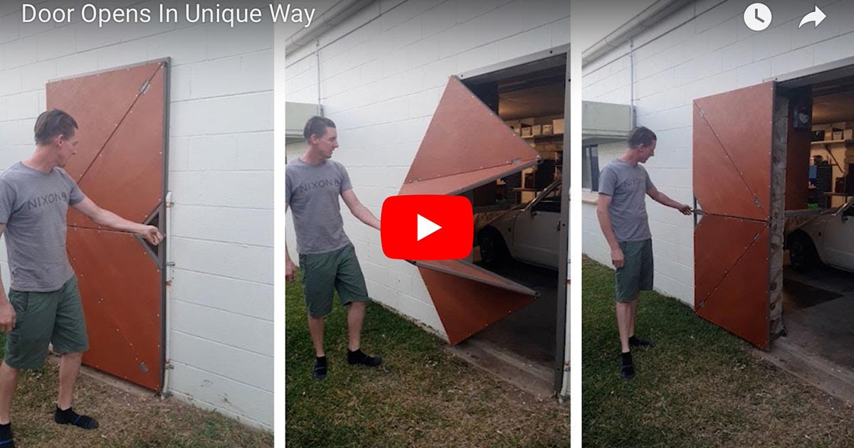 Warwick Turvey's absurdly awesome door