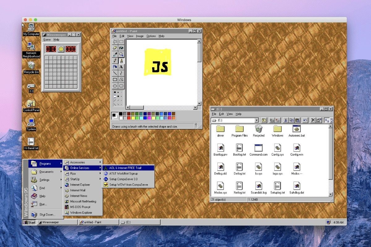 Download Windows 95 On Your Mac As An App