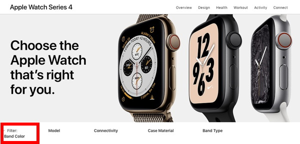 Apple's section page.