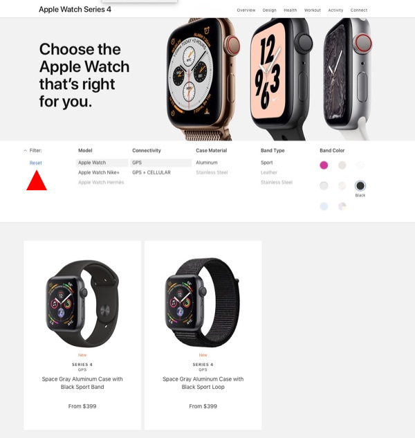 Apple Watch Series 4 selection